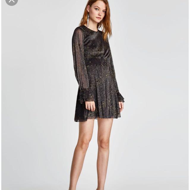 Authentic Zara Shiny Star Dress