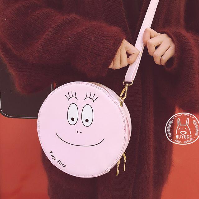 現貨✨barbapapa泡泡先生超可愛斜背包