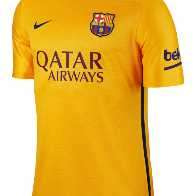 the latest 48ffa 493f3 Barcelona 2016 Away Yellow Jersey Authentic M, Sports ...