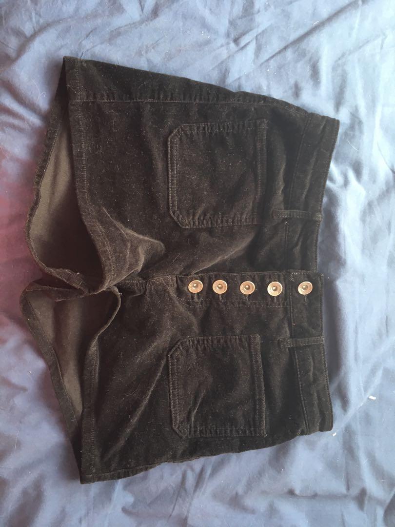 Black high-waisted shorts