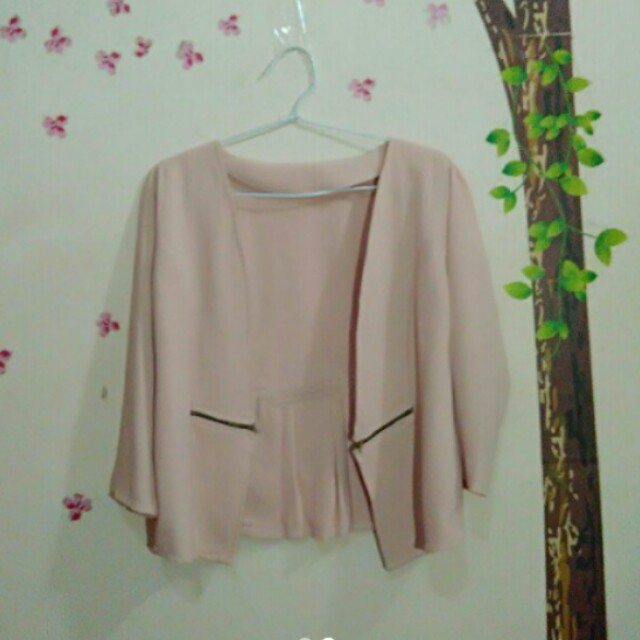 Blazer outer peach