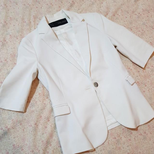 Blazer Putih Zara