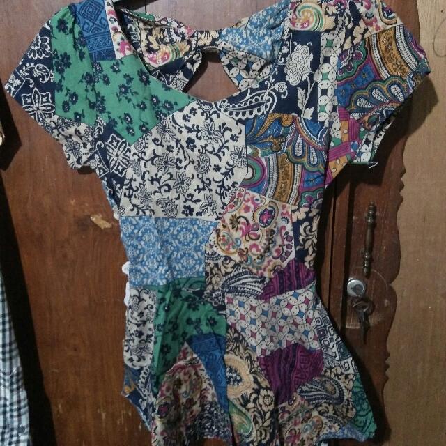 Bloues Batik Peplum