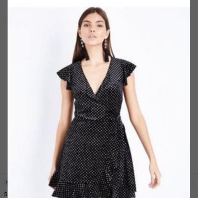 BNWT size 14 velvet black and silver dress