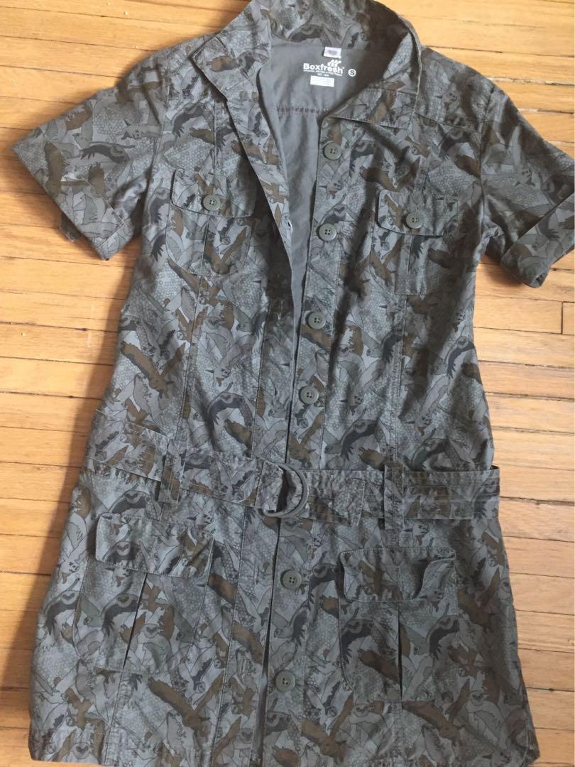 Boxfresh Military Styled Dress Sz S