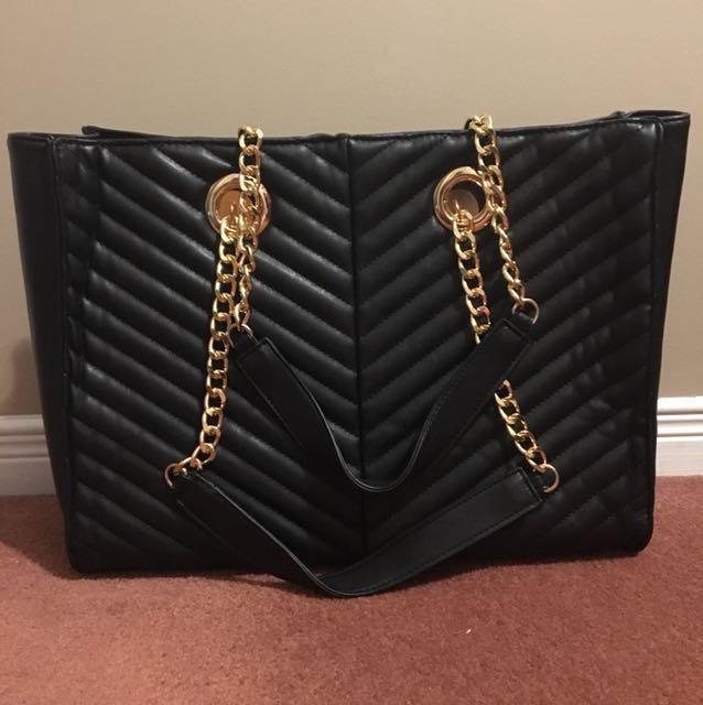 Brand new! Asos large chain zipper bag