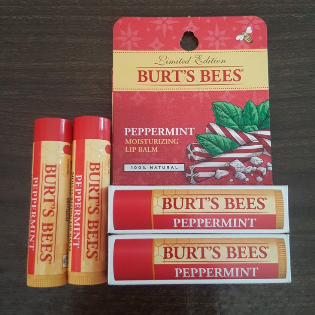 🆕️Burts Bees Peppermint Moisturizing Lip Balm (Limited Edition)