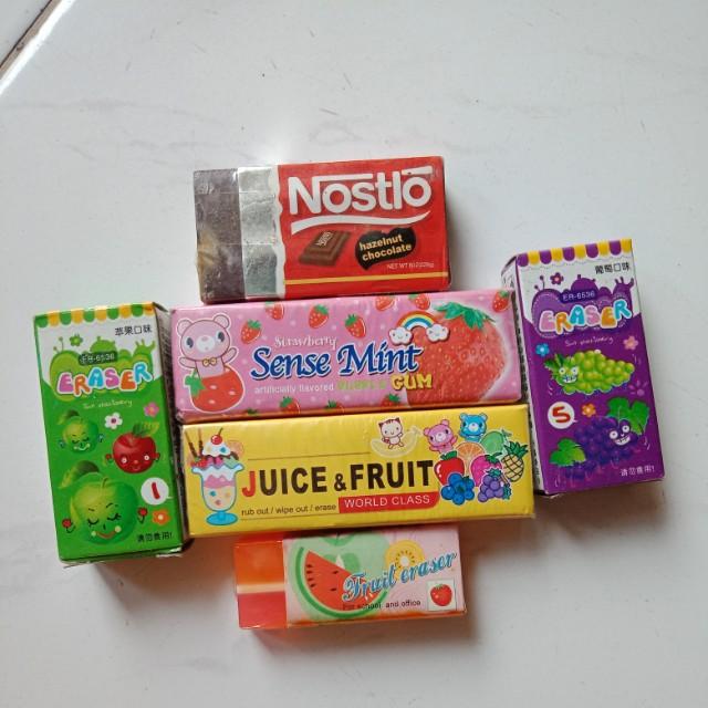 Candy Pack Erasers // Penghapus Permen