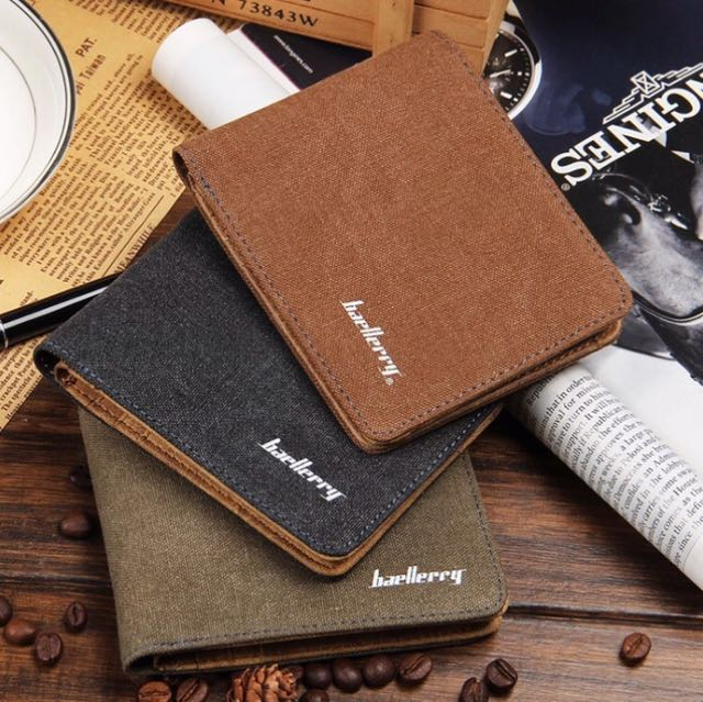 Canvas Men's Wallet Top Quality Wallet and card holder