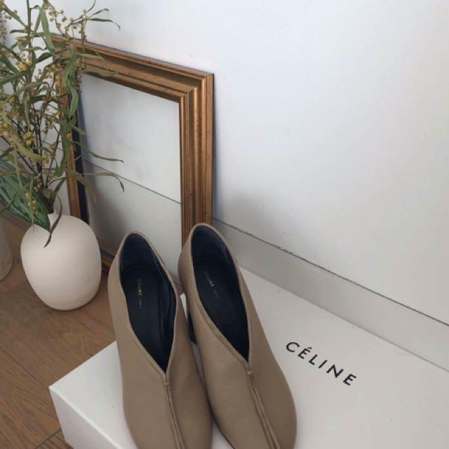 Celine 17秋冬  圓頭高根鞋 全新僅試穿 EU37.5
