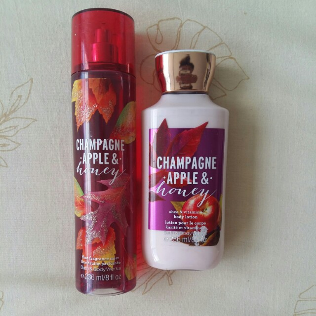 Champagne Apple and Honey Lotion and Perfume
