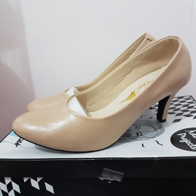 Clarametine Nude Heels by Adorable Projects
