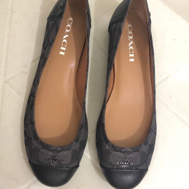 be58d746dca ... reduced coach flat shoes original womens fashion shoes on carousell  1bdd7 a9528