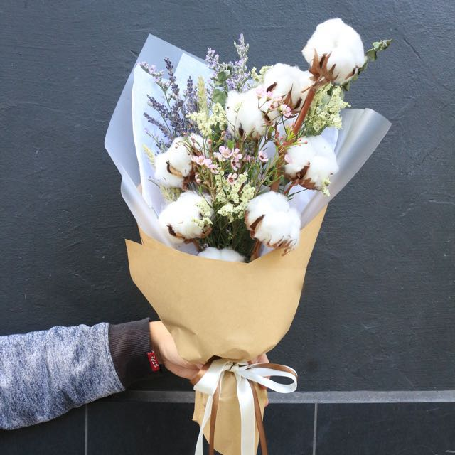 Cotton Flower Bouquets, Gardening on Carousell