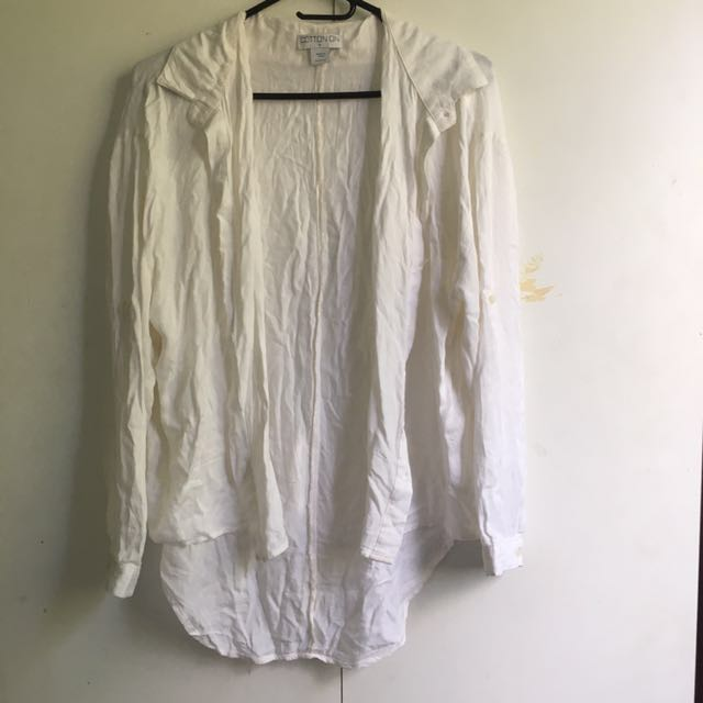 Cotton On Relaxed White Blouse [#54]