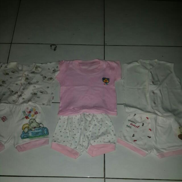 DISKON 3 pasang baju+celana bayi