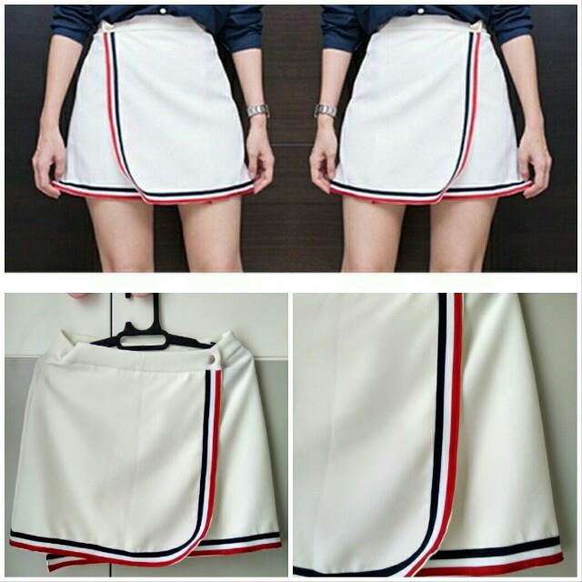 Flip skirt white