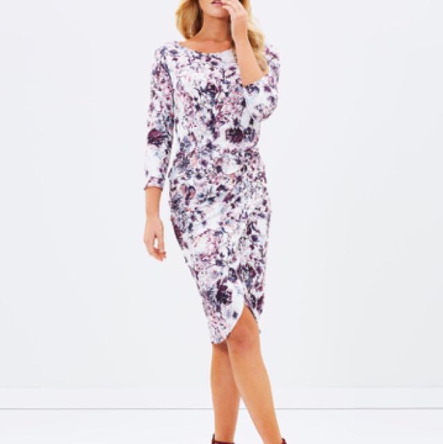 Forcast Chloe Floral Twist Dress Sz 8