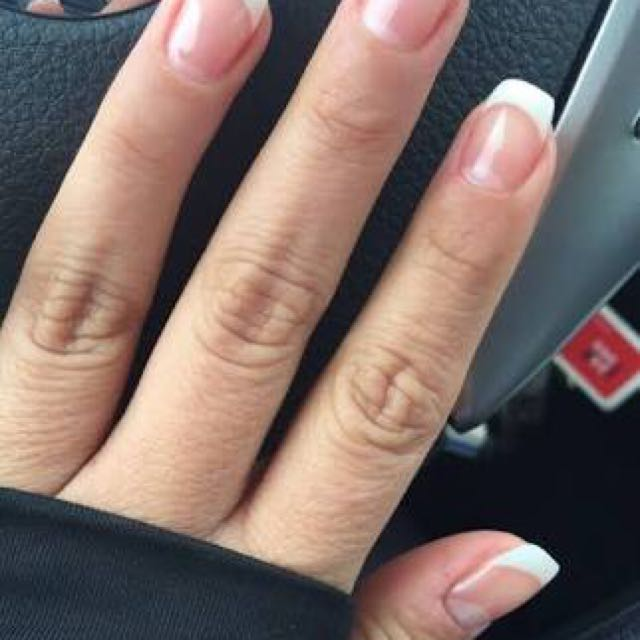 French nail tips for acrylic or gel nails