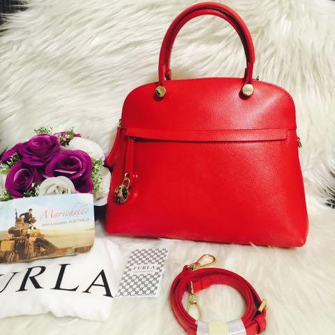 Furla Piper M Leather Dome Bag