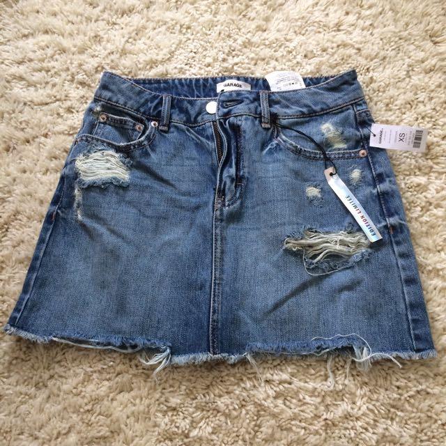 Garage Denim Skirt