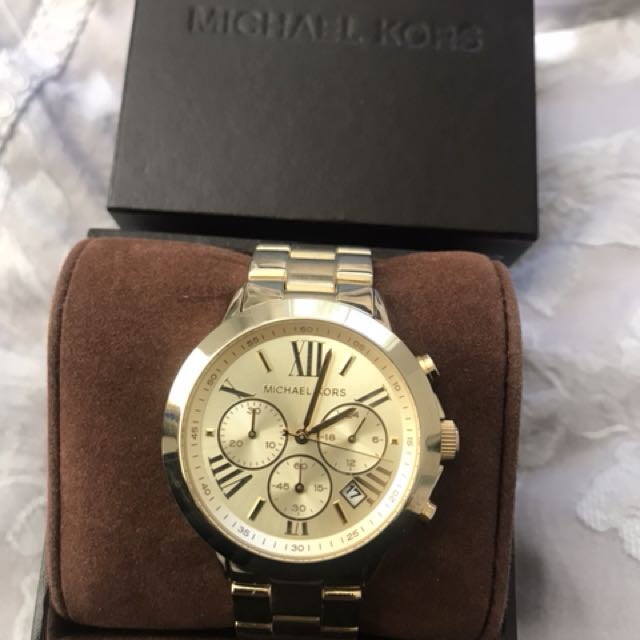 Gold Michael Kors Watch (unisex)