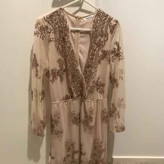 Gold Playsuit, Size 10