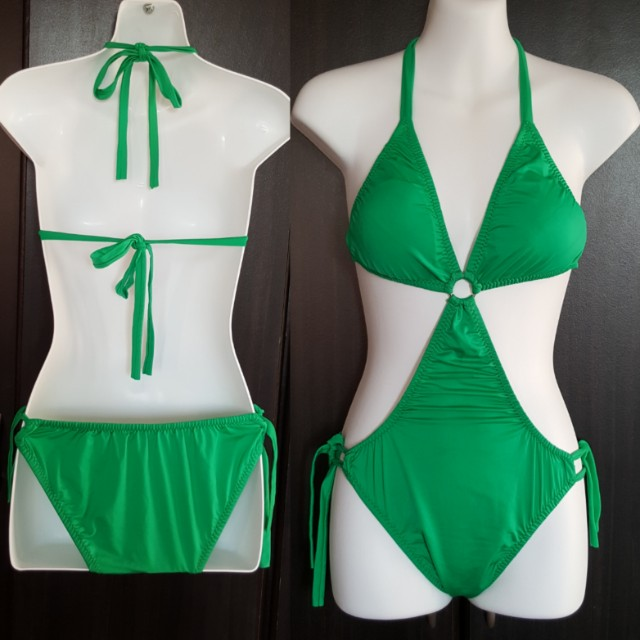 ☝️Green Monokini (One piece swimsuit/Green Maillot/1 piece Swimwear)