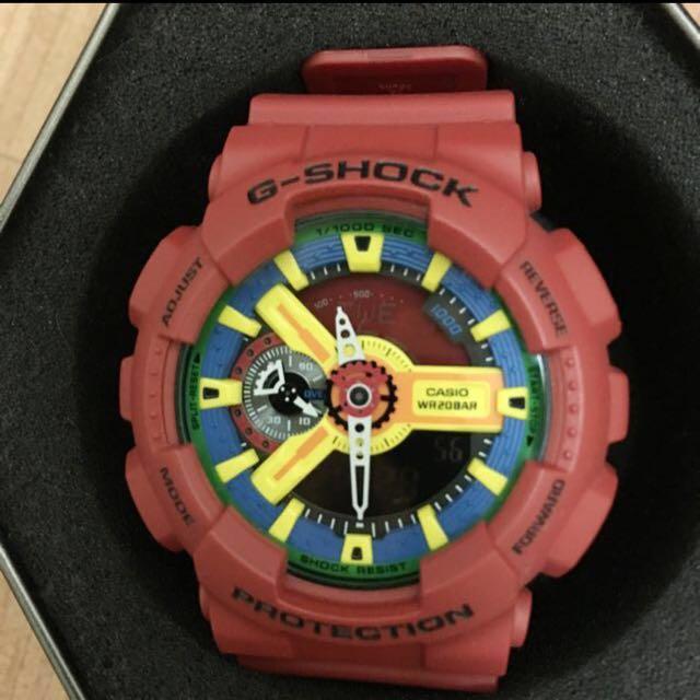 G-SHOCK GA-110FC-1紅樂高