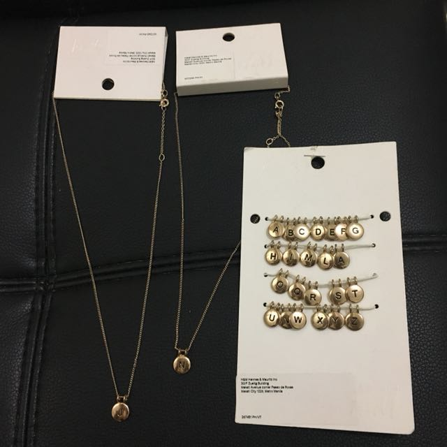 H&M Initials Pendant 50 and Necklace 200