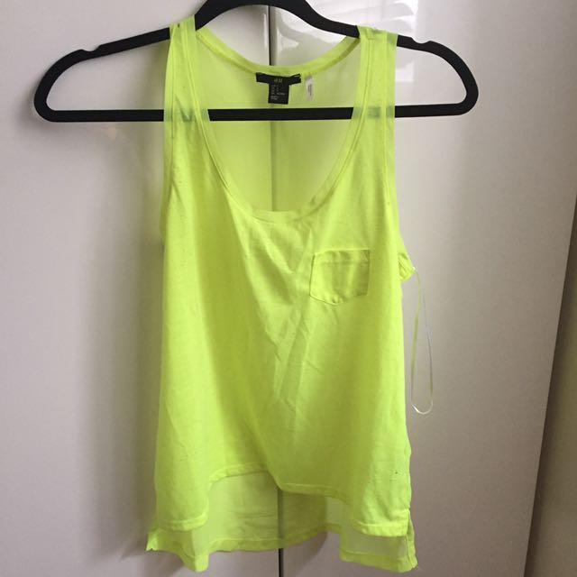 H&M neon yellow top