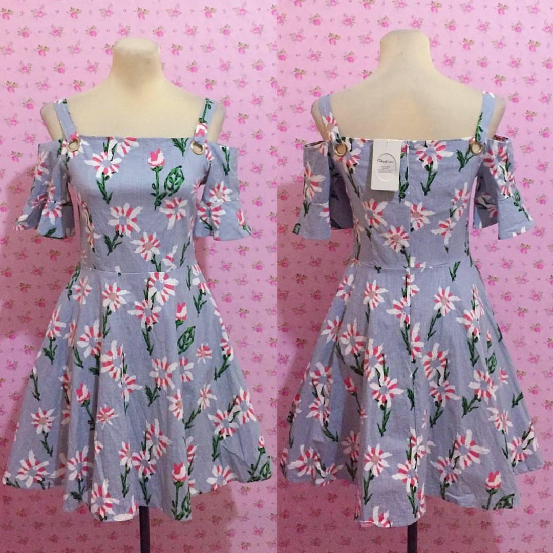 HQ Cold Shoulder Floral Dress