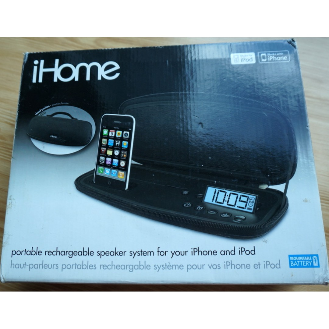 iHome iP48: Portable Rechargeable Speaker System, Electronics, Audio ...