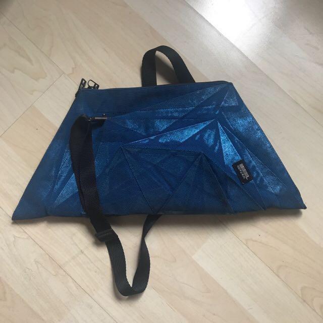 💙含運Issey Miyake 三宅一生 藍色 幾何 3D包包