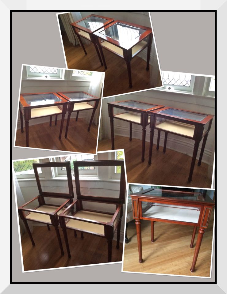 ***JUST REDUCED THE PRICE *** 2 GORGEOUS Collectable 1990's Bombay solid wood Curio tables ☆☆