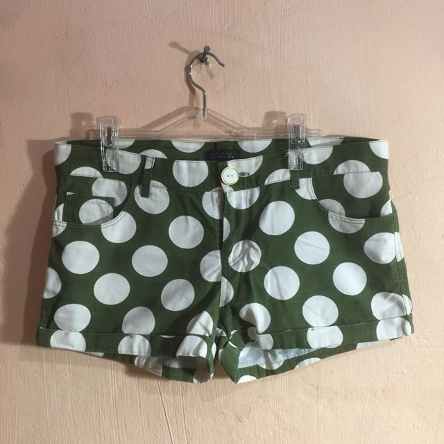 Kamiseta Olive Green Polka Shorts