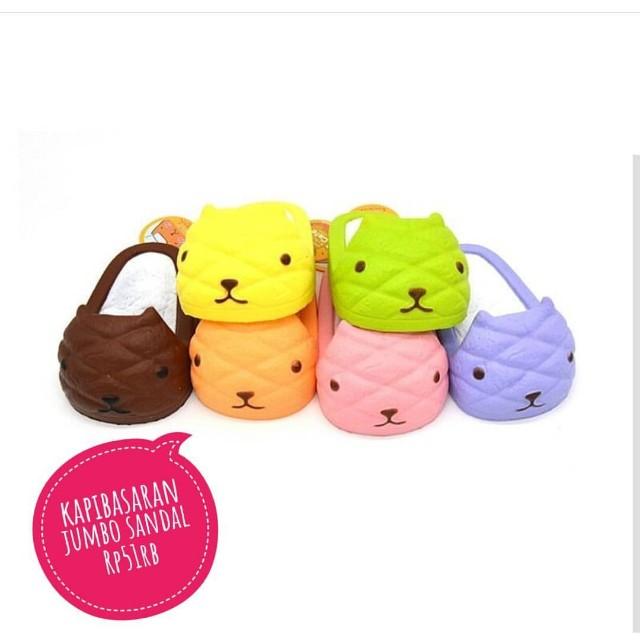 Kapibasaran Jumbo Sandal Squishy Babies Kids Toys Walkers On