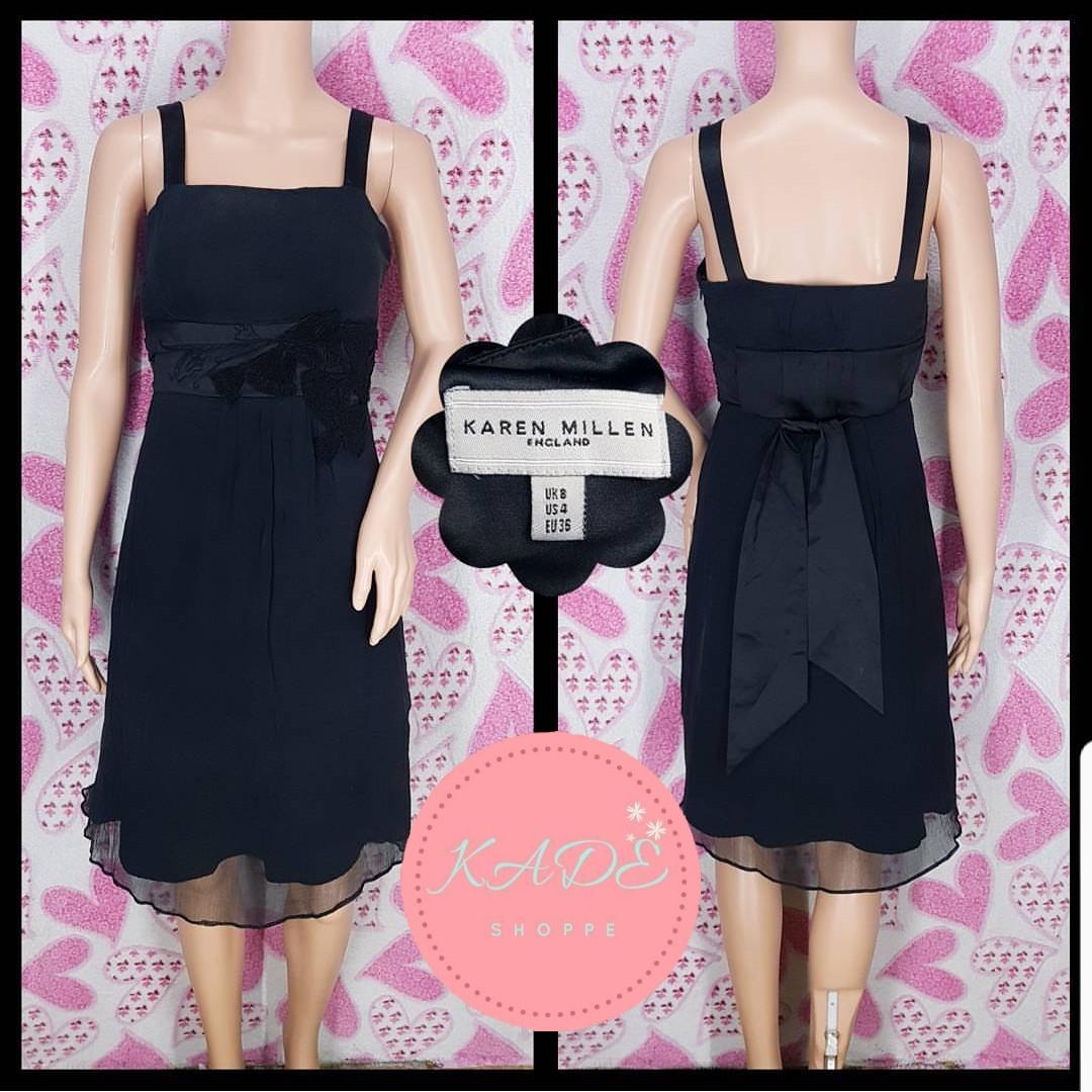 KAREN MILLEN Chiffon Black Dress