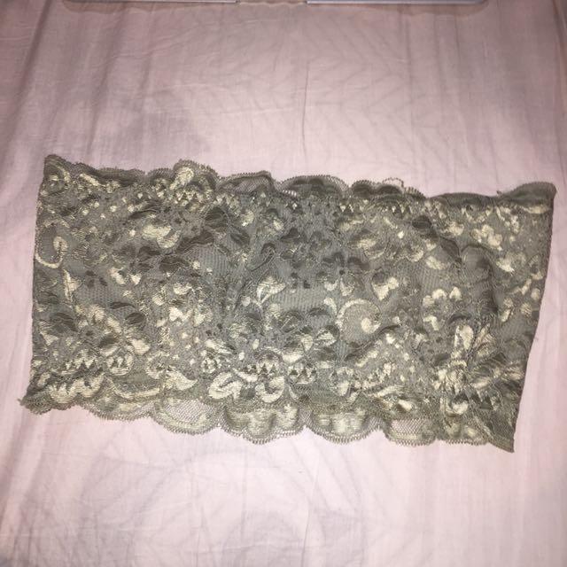 Lace boob tube