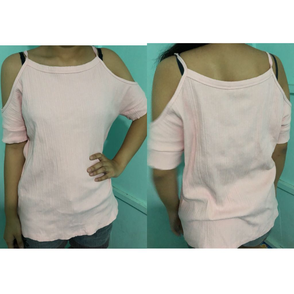 Light Pink Off Shoulder Blouse
