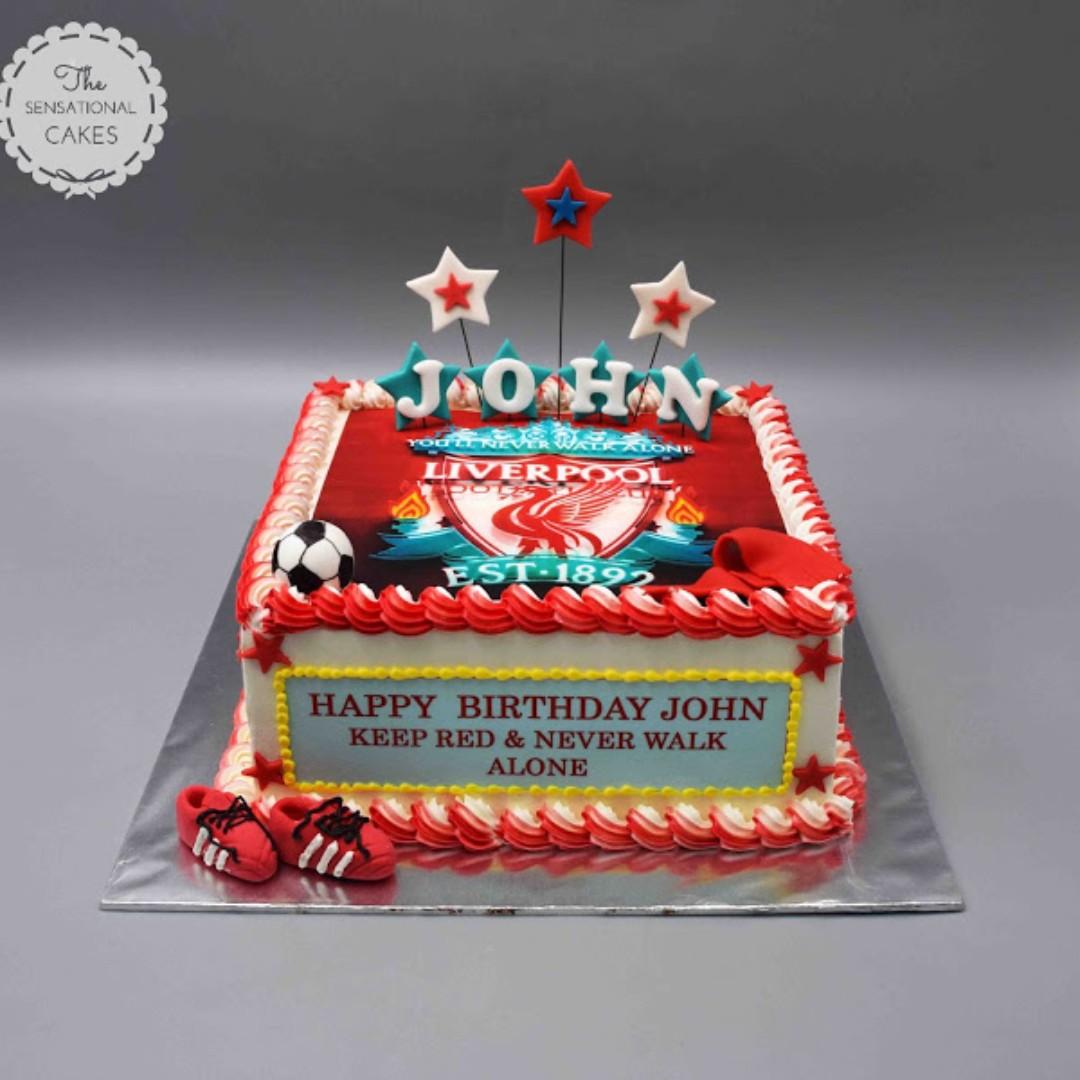 Liverpool Football Club Concept Theme Cake Singapore Singaporecake