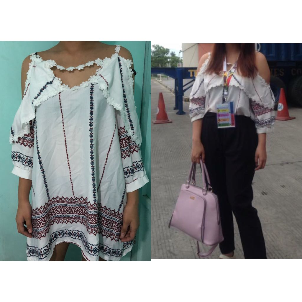 Long Off Shoulder Blouse