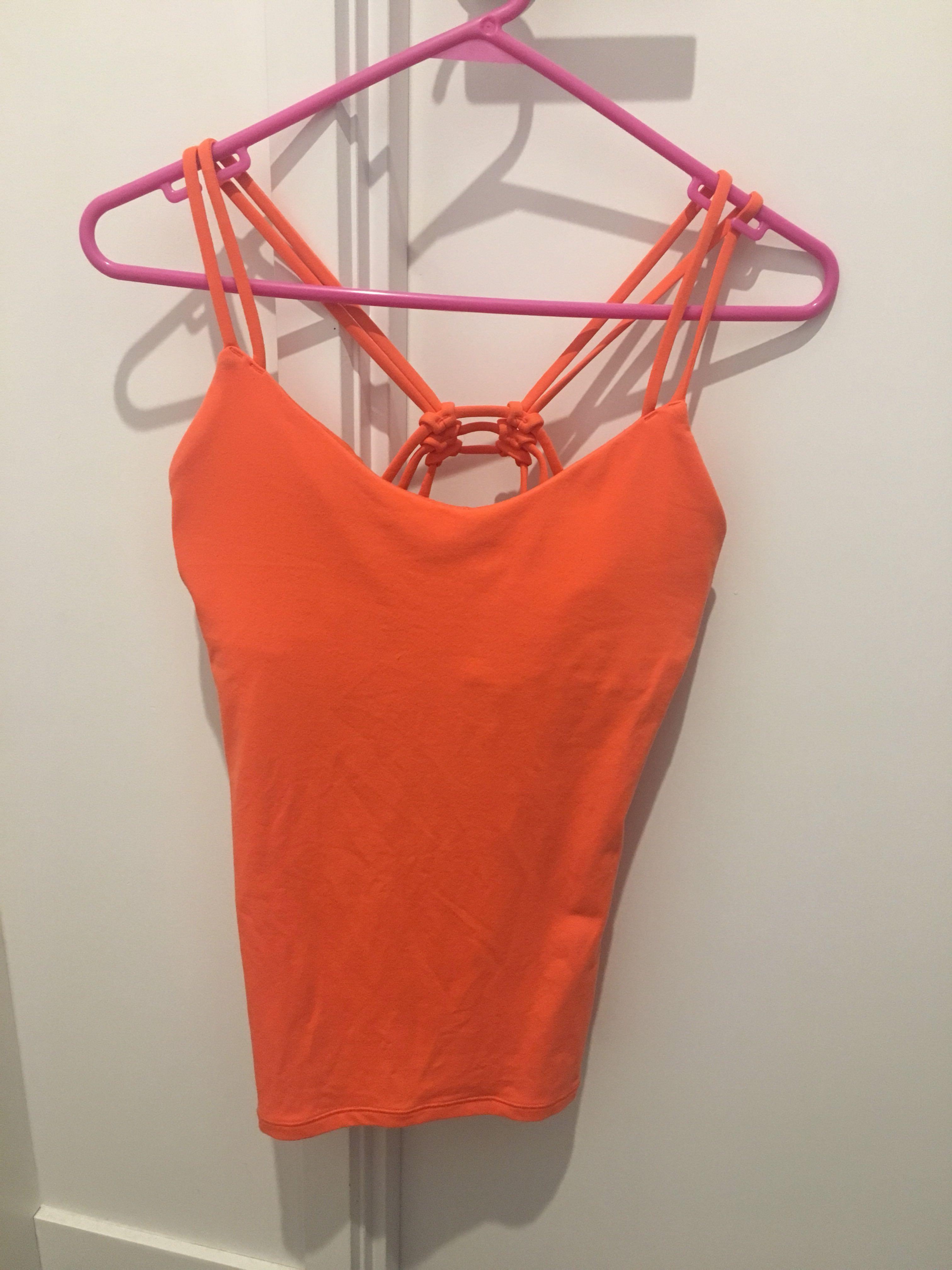 Lululemon Orange Crossback Gym Top - XS