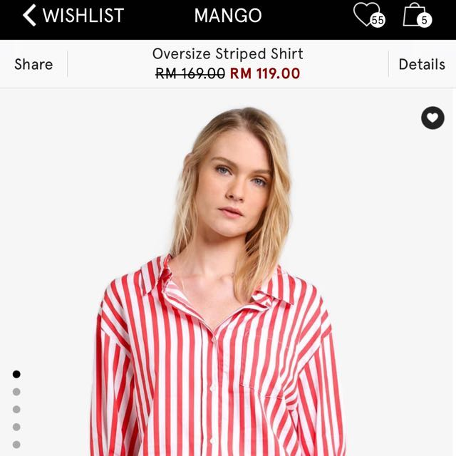 Mango Oversized stripe Shirt