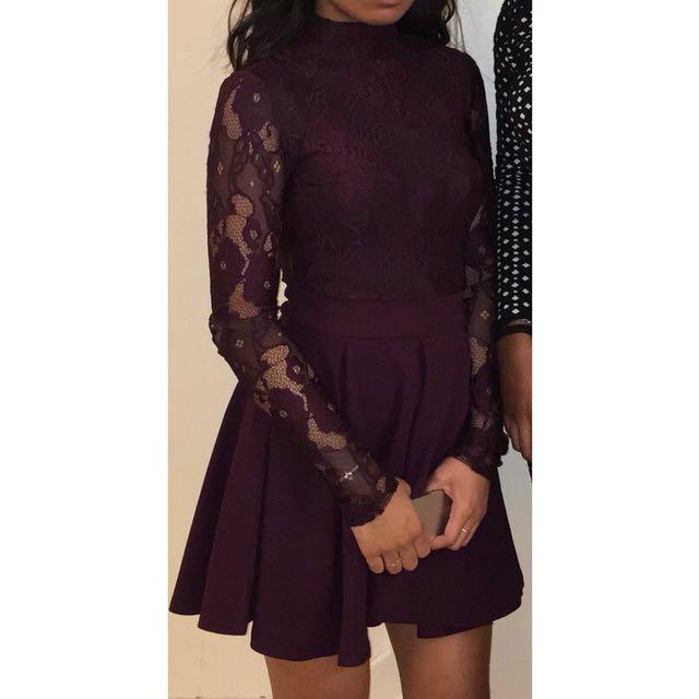 MAROON DRESS (size: small)