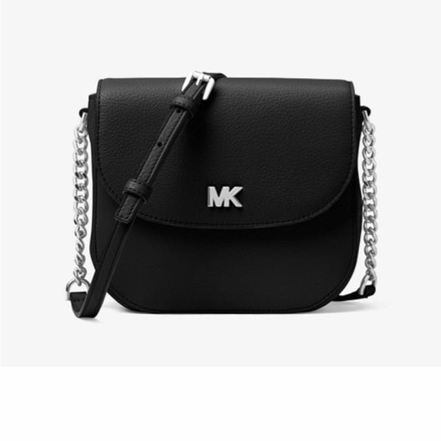 加拿大代購-Michael Kors Mott leather Dome crossbody