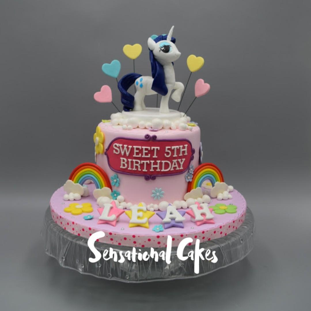 My Little Pony Unicorn Rainbow Girl Birthday 3d Cake Singapore