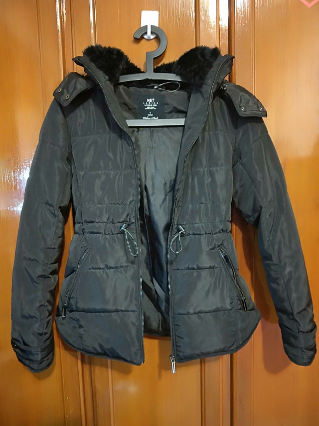 Net 防風女用黑外套