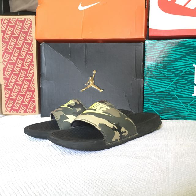5ff885415 Nike Slides Camo Color way(RARE), Men's Fashion, Footwear, Slippers ...