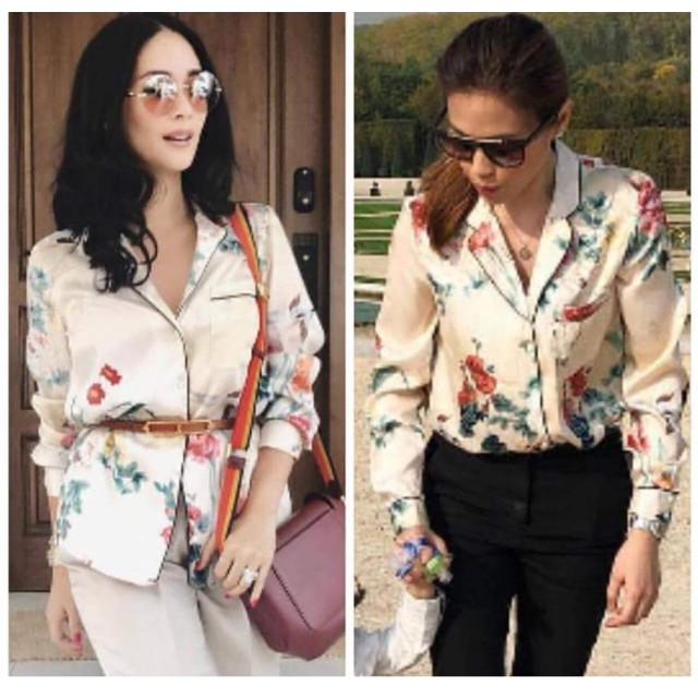 On trend! Floral Blouse Top